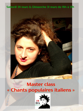 Image Master class  « Chants traditionnels italiens »